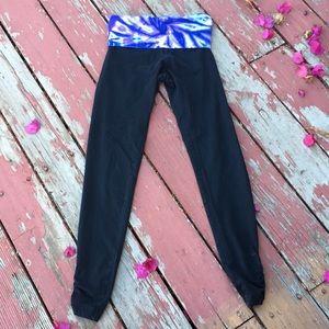 Hardtail fold over waist leggings